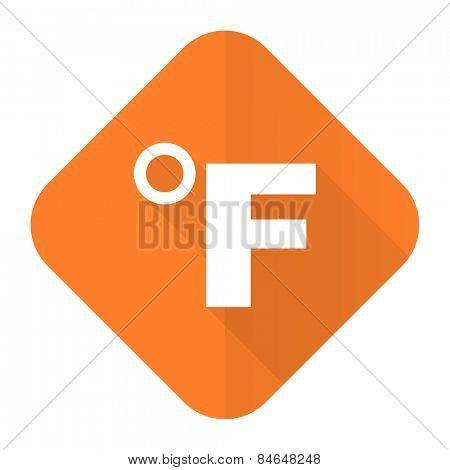 fahrenheit orange flat icon temperature unit sign