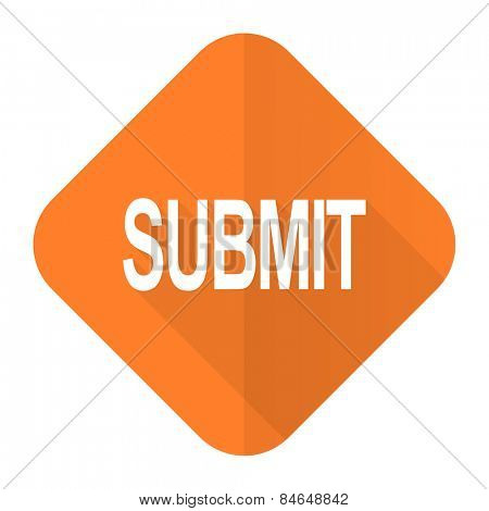 submit orange flat icon