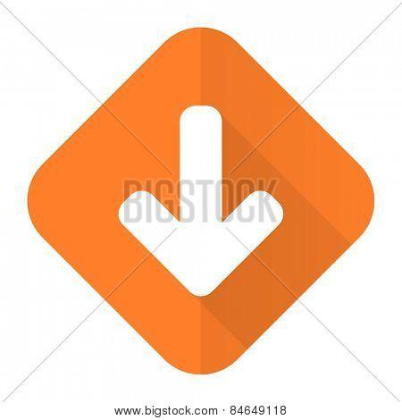 download arrow orange flat icon arrow sign
