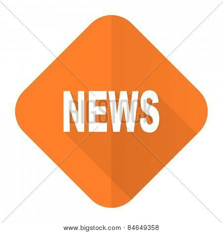 news orange flat icon