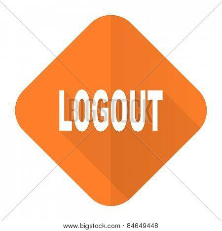 logout orange flat icon