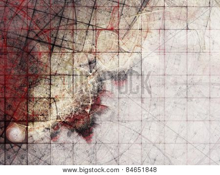Abstract creepy background. Digitally generated image.