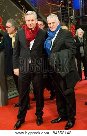 BERLIN, GERMANY - FEBRUARY 14: Klaus Wowereit and partner Joern Kubicky . Closing Ceremony. 65th Berlinale International Film Festival at Berlinale Palace on February 14, 2015 in Berlin, Germany.