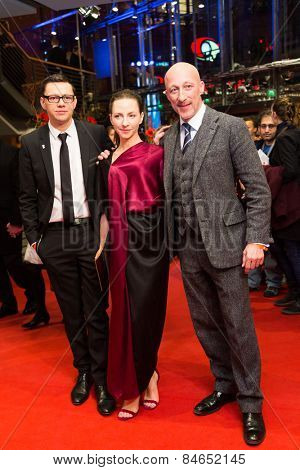 BERLIN, GERMANY - FEBRUARY 14: Christian Friedel, Katharina Schuettler and Oliver Hirschbiegel. Closing Ceremony. 65th Berlinale International Film Festival on February 14, 2015 in Berlin, Germany.