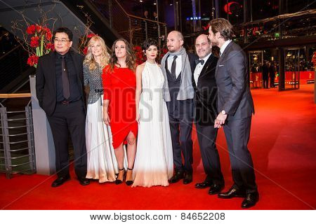 BERLIN, GERMANY - FEBRUARY 14: The International Jury attend the Closing Ceremony of the 65th Berlinale International Film Festival on February 14, 2015 in Berlin, Germany.