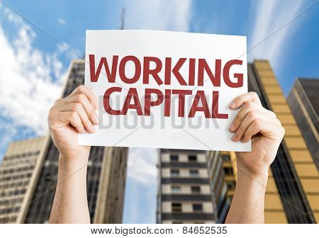 Working Capital card with a urban background