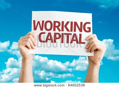 Working Capital card with sky background