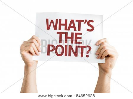 What's the Point? card isolated on white background