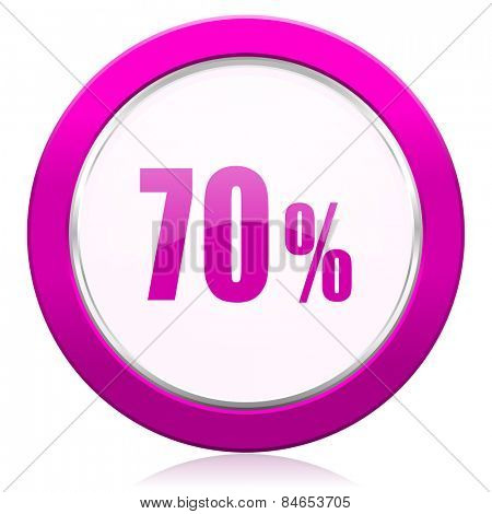 70 percent violet icon sale sign