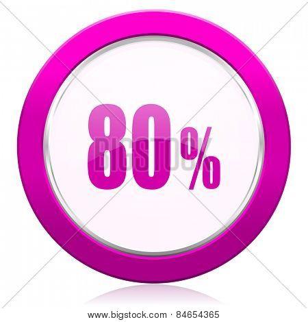 80 percent violet icon sale sign