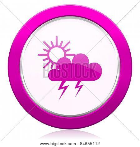 storm violet icon waether forecast sign