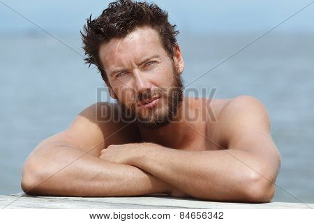Sexy Athletic Handsome Man With No Shirt