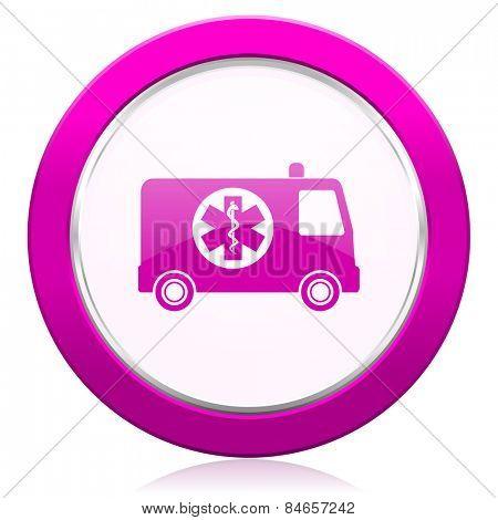ambulance violet icon
