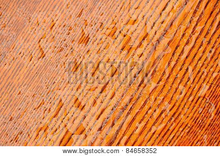 Polished Natural Wood Texture With Water Drops