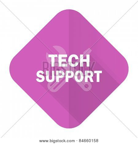 technical support pink flat icon