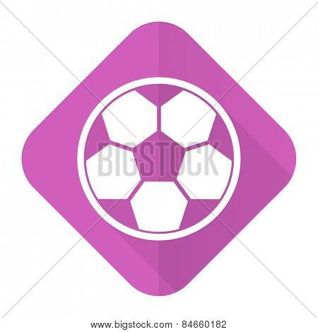 soccer pink flat icon football sign