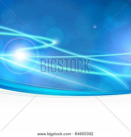 Abstract Bokeh Lights Background With Empty Space
