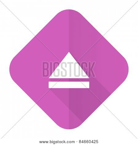 eject pink flat icon open sign