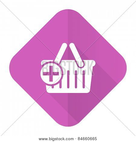 cart pink flat icon shopping cart symbol
