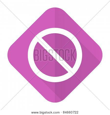 access denied pink flat icon