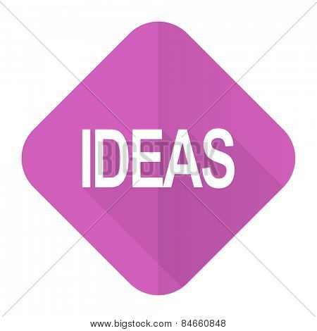 ideas pink flat icon