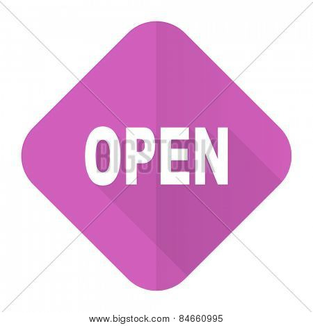 open pink flat icon