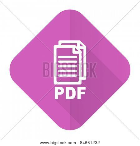pdf pink flat icon pdf file sign