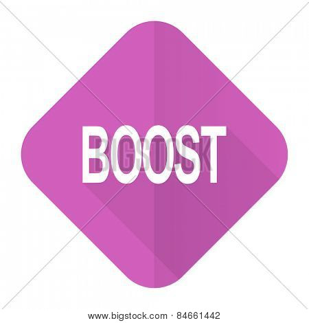 boost pink flat icon