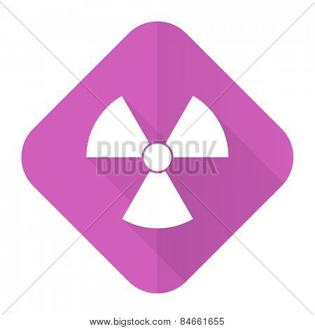 radiation pink flat icon atom sign