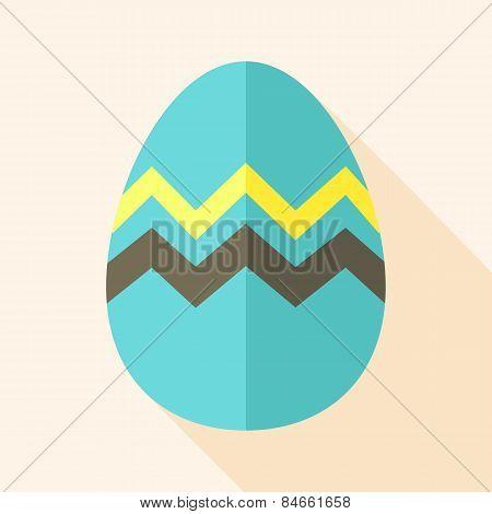Easter Egg With Zig Zag