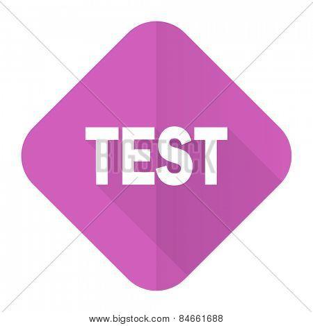test pink flat icon