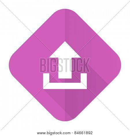 upload pink flat icon