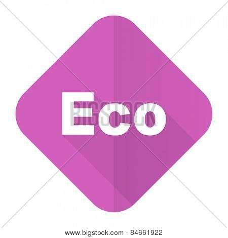 eco pink flat icon ecological sign