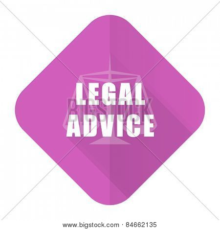 legal advice pink flat icon law sign