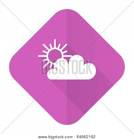 cloud pink flat icon waether forecast sign