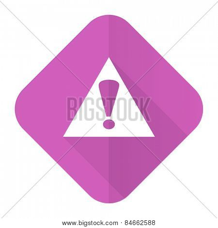 exclamation sign pink flat icon warning sign alert symbol