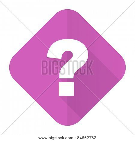 question mark pink flat icon ask sign