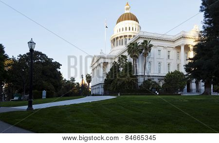 Exterior California State Capitol West And South Walls