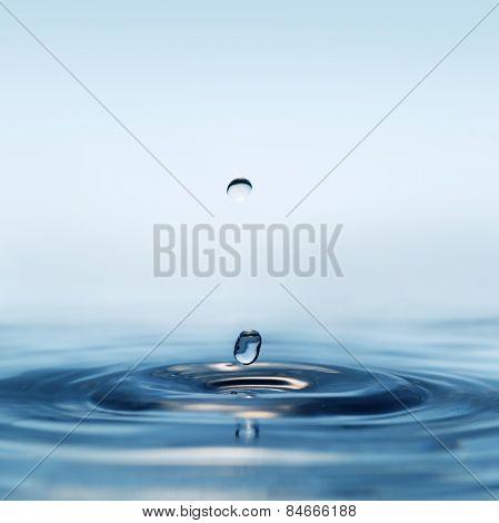 Transparent Drop Of Water