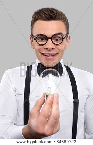 Nerd With A Light Bulb.