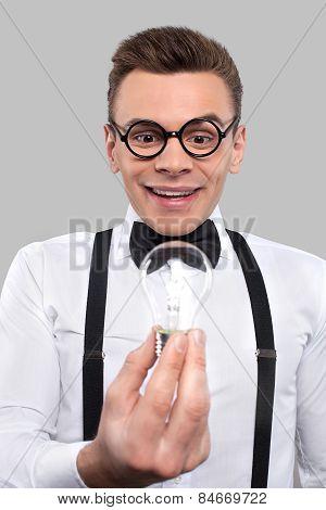 Nerd With A Light Bulb.