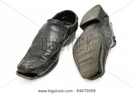 old shoe isolated on a white background