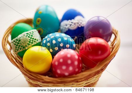Assortment of Easter painted eggs