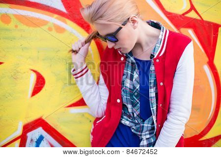 Blond Girl In Ghetto