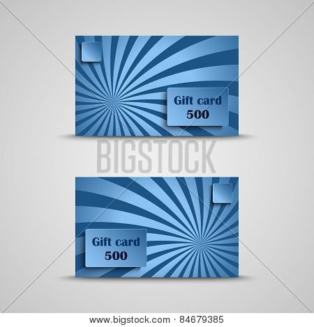 Gift Card With Blue Striped Background