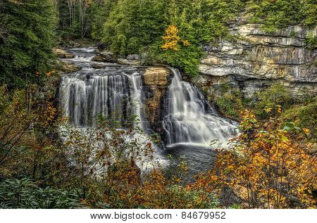 Blackwater Falls In Autumn