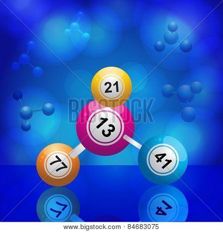 Bingo Balls Molecule