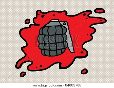 Grenade In Blood