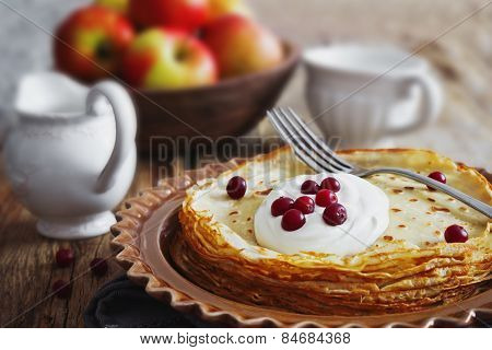 Freshly Baked Pancakes