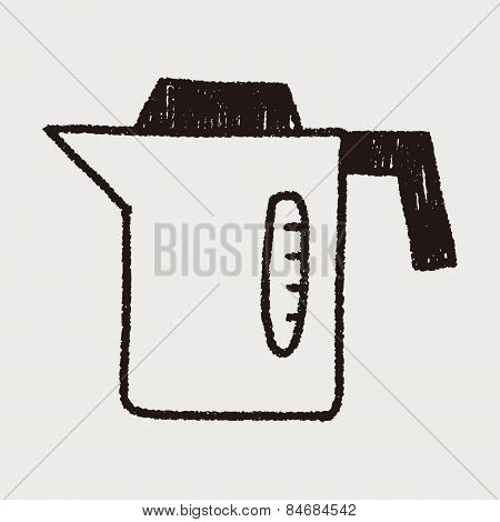 Kitchenware Hot Water Bottle Doodle Drawing